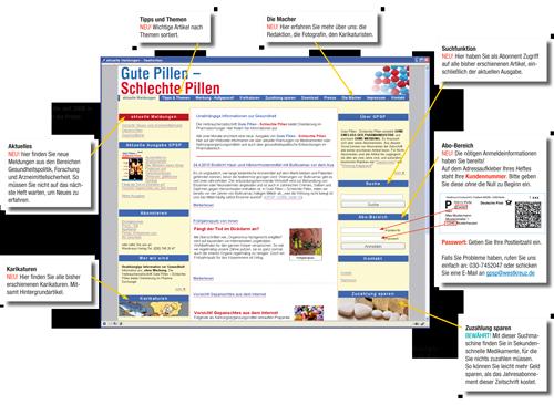 GPSP, Neuer Internetauftritt ab April 2010