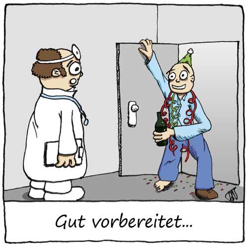 Gut  vorbereitet  zum  Arzt